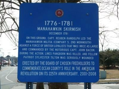 Manahawkin Skirmish Marker image. Click for full size.
