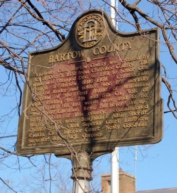 Bartow County Marker Photo, Click for full size