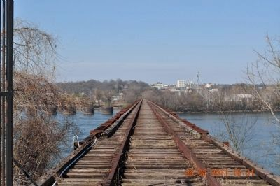 Old Railroad Bridge Upper Deck image. Click for full size.