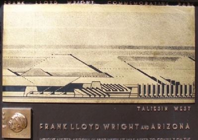 Frank Lloyd Wright Marker Detail image. Click for full size.