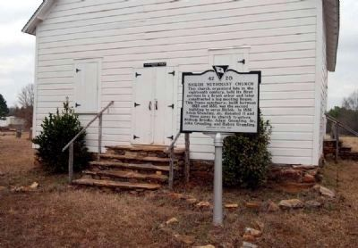 Shiloh Methodist Church Entrance and Marker Photo, Click for full size