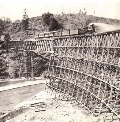Bear River Trestle - A Howe Truss Design Photo, Click for full size