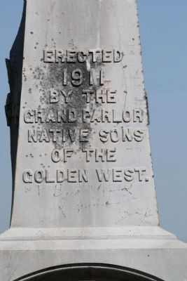 Camp Far West Cemetery Monument image. Click for full size.