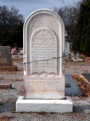 William McMurtry Tombstone image. Click for full size.