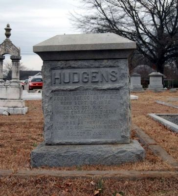 Hudgens Tombstone image. Click for full size.