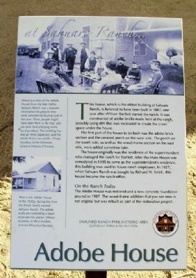 Adobe House Marker image. Click for full size.