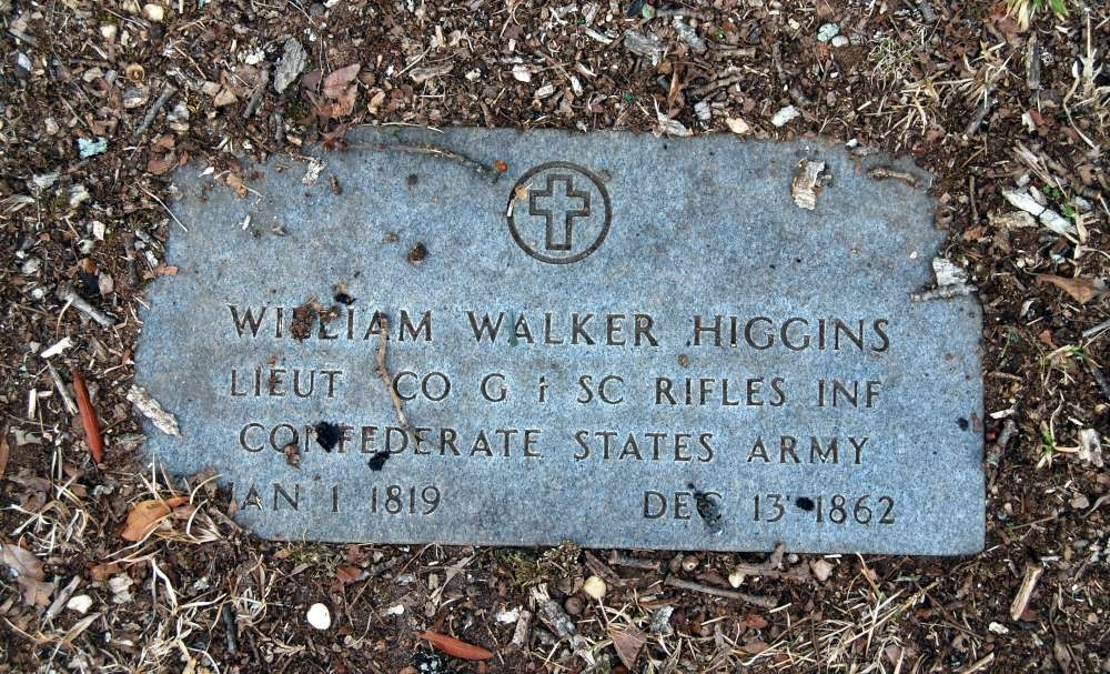 William Walker Higgins Tombstone