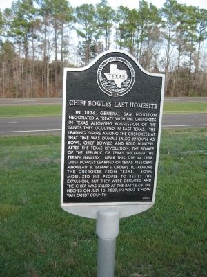 Chief Bowles' Last Homesite Marker image. Click for full size.