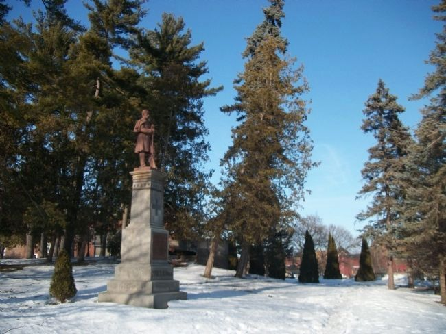 The 77th Regiment, New York Volunteers Monument<br>In Congress Park, Saratoga Springs image. Click for full size.