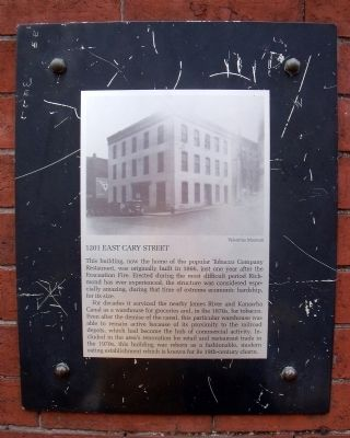 1201 East Cary Street Marker image. Click for full size.