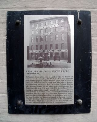 Bowers Brothers Coffee and Tea Building Marker image. Click for full size.