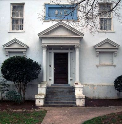 Philomathean Literary Society Hall (1859)<br>Northeast Entrance Photo, Click for full size