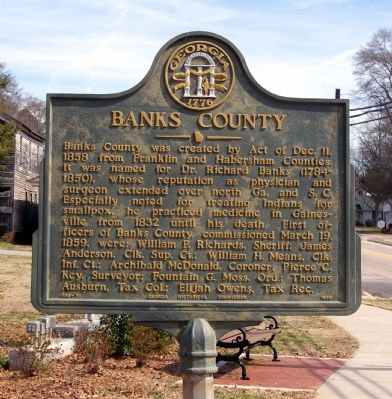 Banks County Marker image. Click for full size.