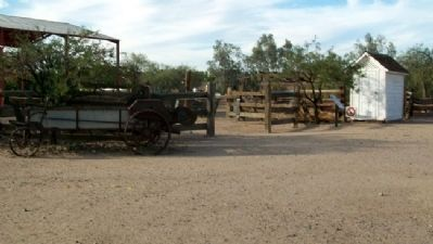 Corrals and Tack House and Marker image. Click for full size.