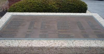 Nearby memorial plaque displaying the names of U.S. Air Force Medal of Honor recipients. image. Click for full size.