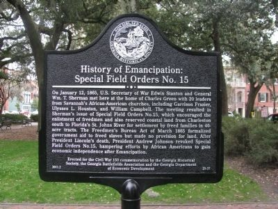 History Of Emancipation: Special Field Orders No. 15 Marker image. Click for full size.