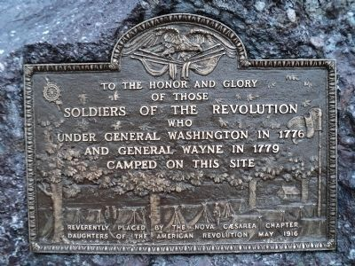 Soldiers of the Revolution Marker (restored) image. Click for full size.