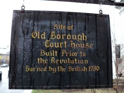 Old Borough Court House Marker image. Click for full size.