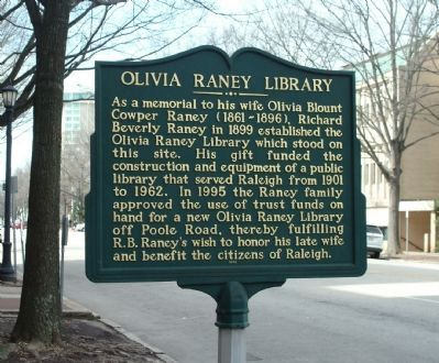 Olivia Raney Library Marker image. Click for full size.