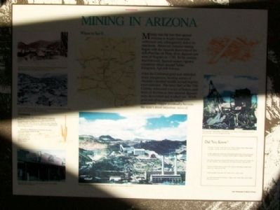 Mining in Arizona Marker image. Click for full size.