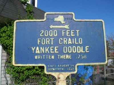 Fort Crailo Marker image. Click for full size.