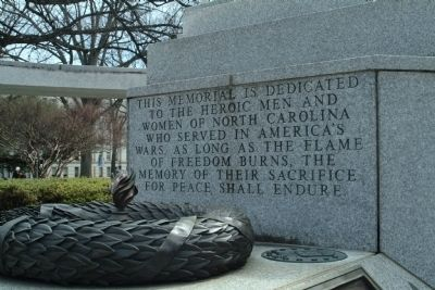 North Carolina Veterans' Monument Photo, Click for full size