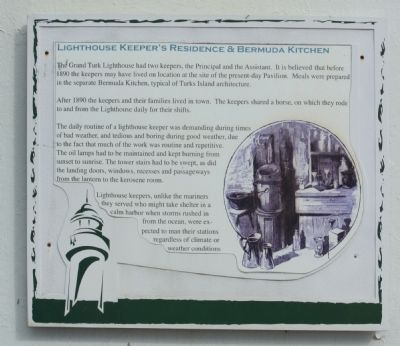 Lighthouse Keeper's Residence & Bermuda Kitchen Marker image. Click for full size.