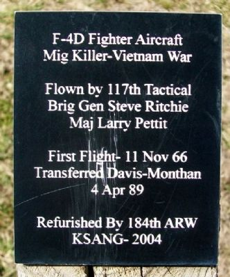 F-4D Fighter Aircraft Marker image. Click for full size.