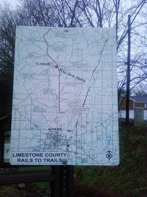 Limestone County Rails to Trails map Photo, Click for full size