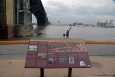 Lewis and Clark and St. Louis Riverfront Marker image. Click for full size.