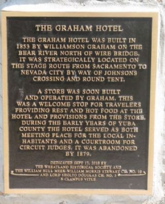 The Graham Hotel Marker image. Click for full size.