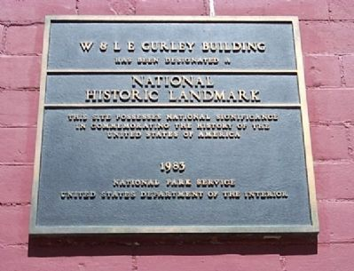 W & L E Gurley Building Marker Photo, Click for full size