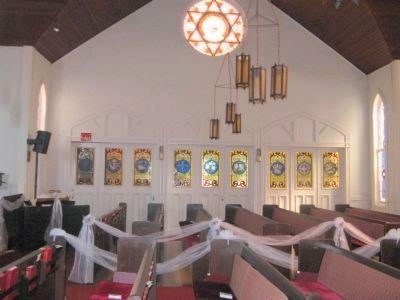 Interior Stained Glass Windows - East Side of Sanctuary image. Click for full size.