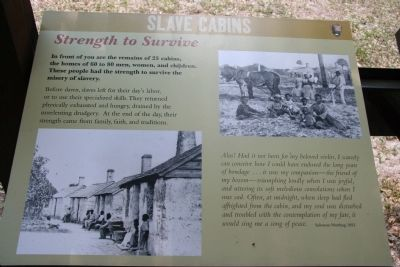 Slave Cabins Marker Photo, Click for full size