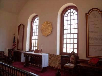 Merchant's Hope Church (interior) image. Click for full size.