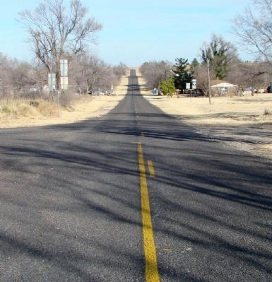 "Texas Old Highway 66 at ""66"" Super Service Station Photo, Click for full size"