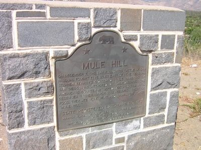 Mule Hill Marker Photo, Click for full size