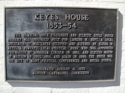 Keyes House Marker image. Click for full size.