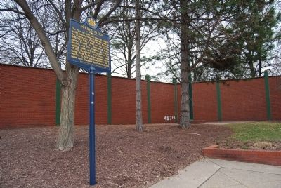 Forbes Field Marker and remaining outfield wall Photo, Click for full size