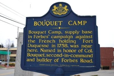 Bouquet Camp Marker Photo, Click for full size
