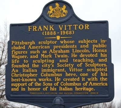 Frank Vittor Marker Photo, Click for full size