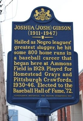 Joshua (Josh) Gibson Marker Photo, Click for full size