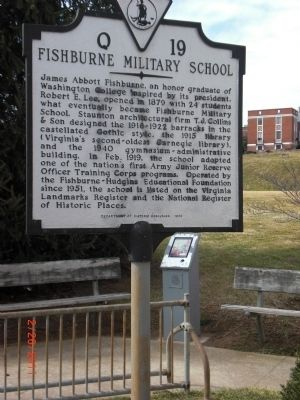 Fishburne Military School Marker image. Click for full size.