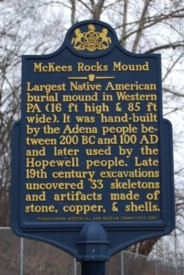 McKees Rocks Mound Marker image. Click for full size.