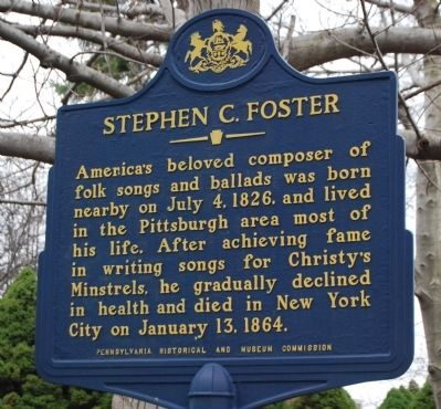 Stephen C. Foster Marker image. Click for full size.