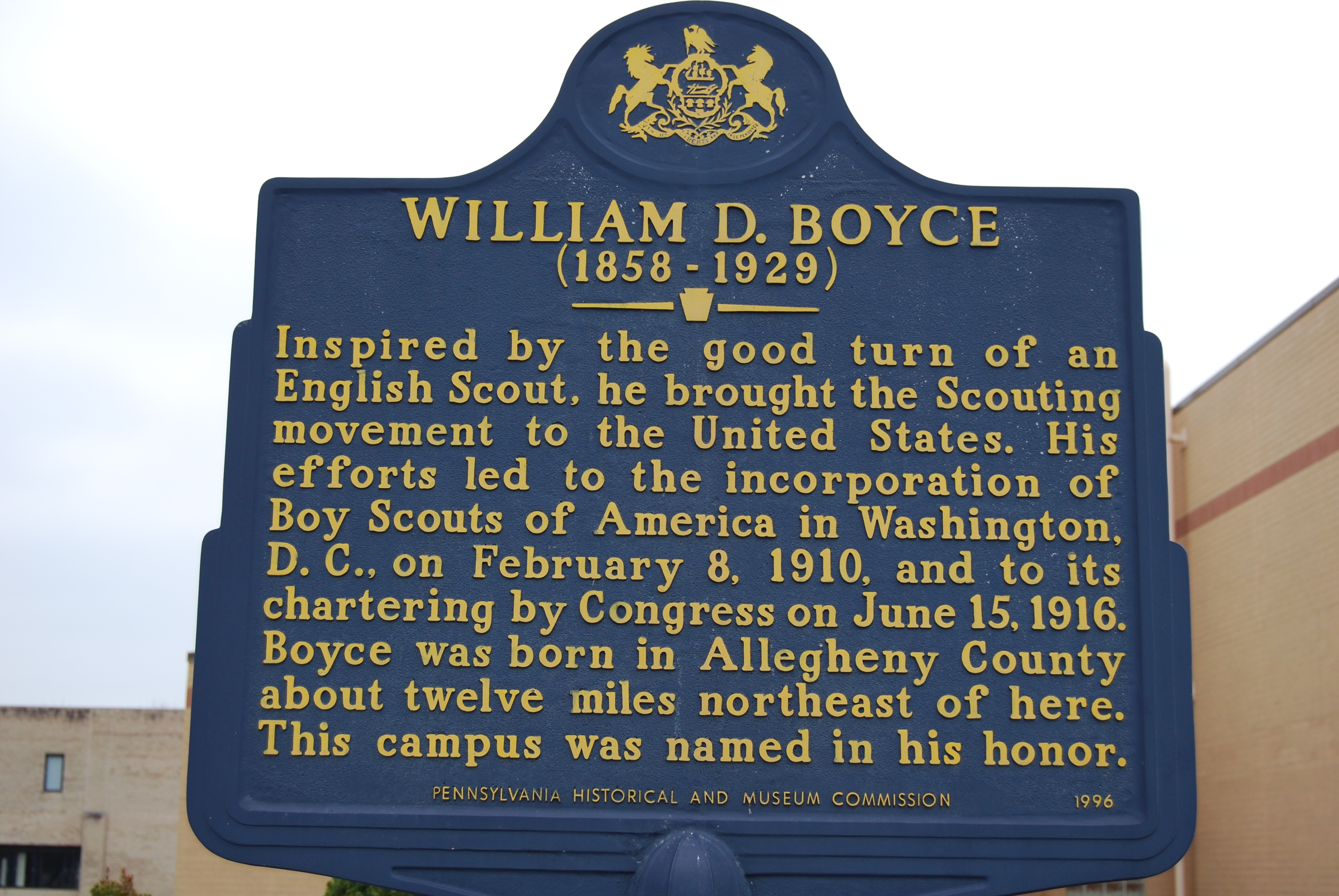 William D. Boyce Marker