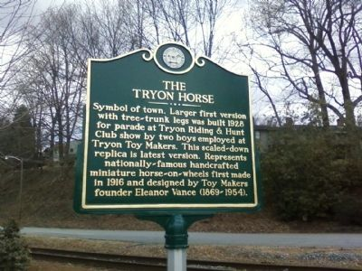 The Tryon Horse Marker image. Click for full size.
