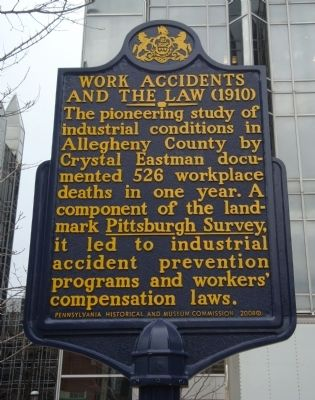 Work Accidents and the Law Marker image. Click for full size.