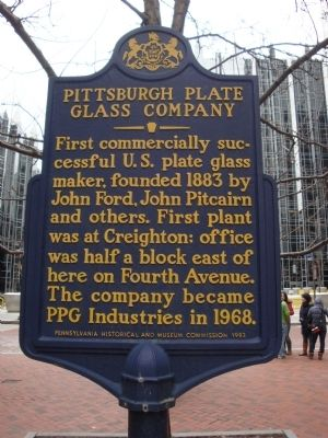 Pittsburgh Plate Glass Company Marker image. Click for full size.