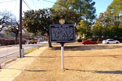 Hutto School Marker (Side 1) image. Click for full size.